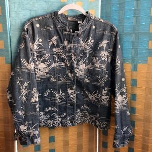Chico's 1 (8/10) denim jacket